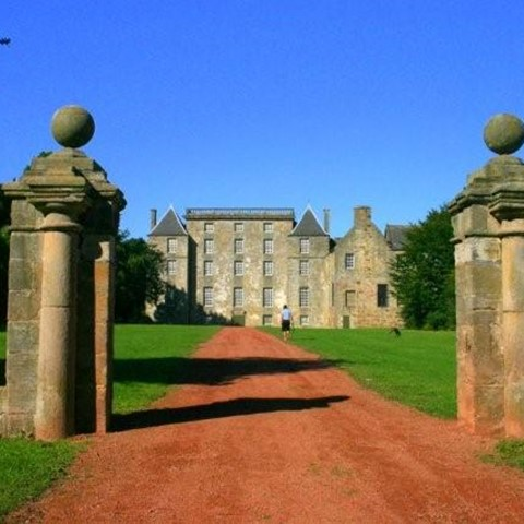 Kinneil House from the gate piers