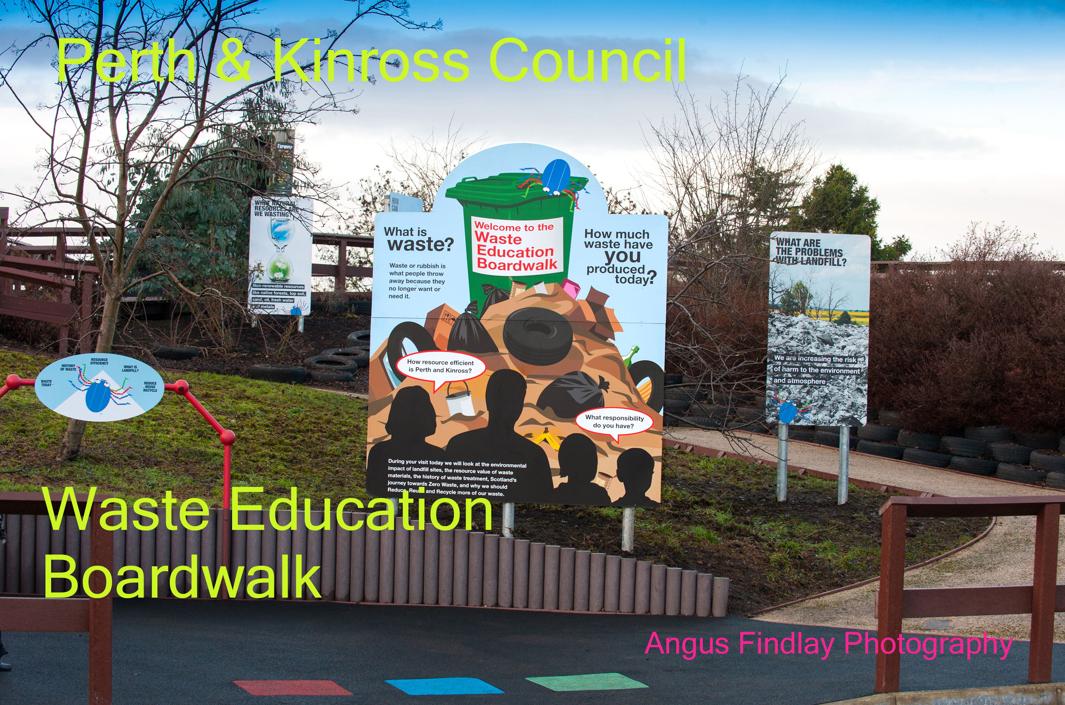 Friarton recycling centre waste education boardwalk for Household waste recycling centre design