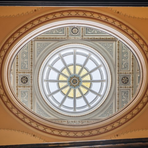 Glasgow city chambers skylight photo