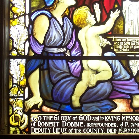 Stained glass in Larbert Old Parish Church